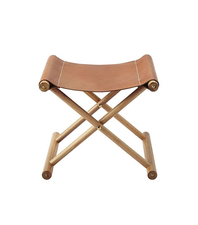 Serena & Lily Copper Leather Stool