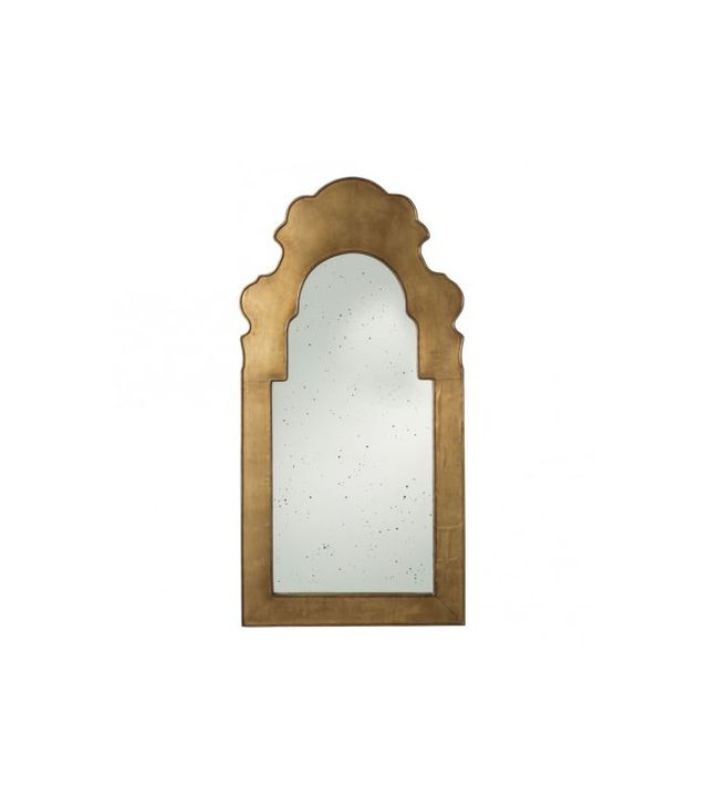The Well Appointed House Antique Brass Wall Mirror with Antique Mirror