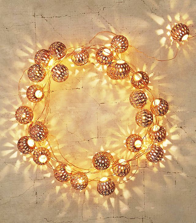 Urban Outfitters Copper Lantern String Lights