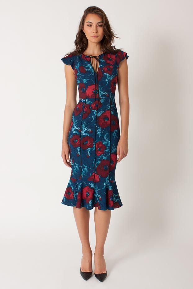 Janie Bryant for Black Halo Print Frenchie Dress