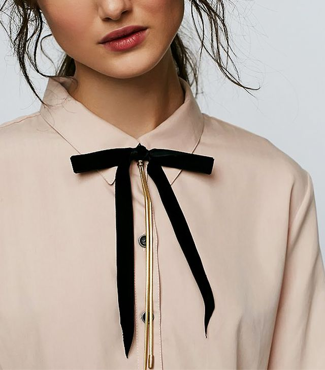 Free People Bow Tie Bolo Necklace
