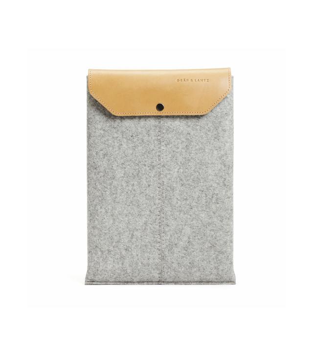 Graf & Lantz MacBook Pro Sleeve in Grey/Tan