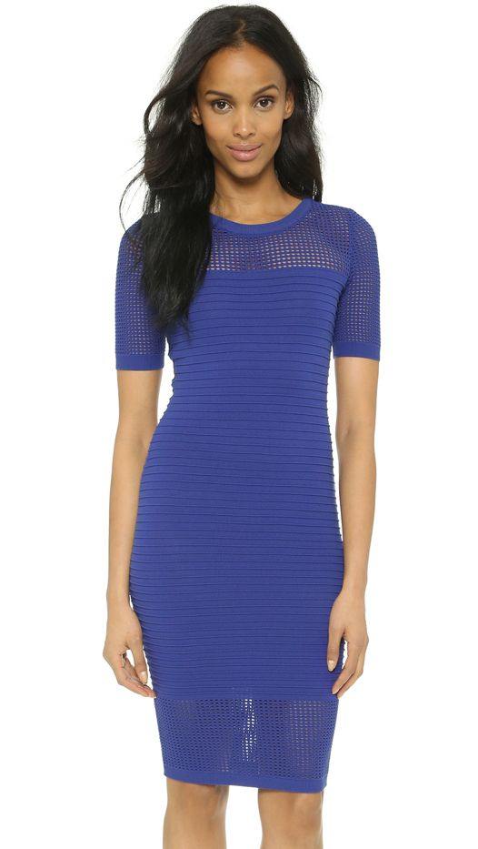 Milly Engineered Mesh Dress