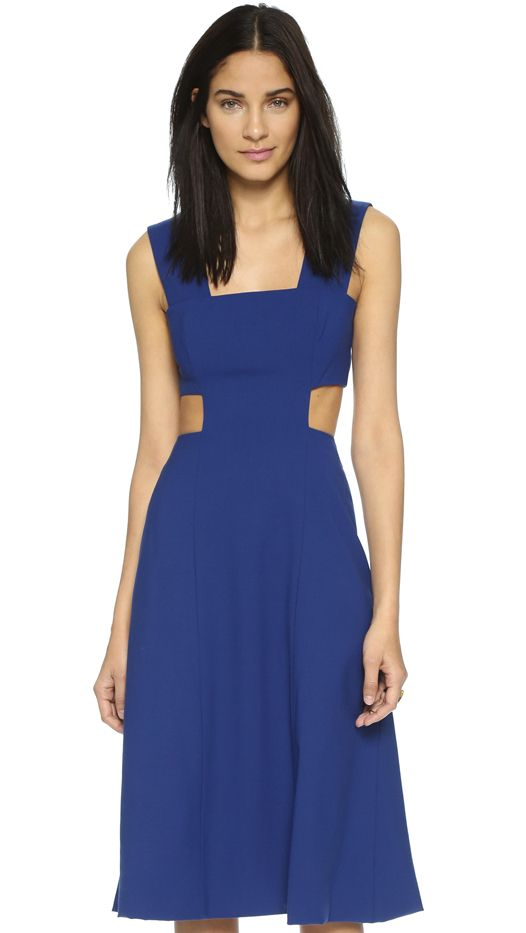 Suno Seamed Cutout Dress