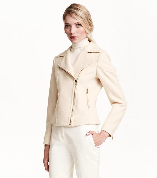 H&M Wool-Blend Biker Jacket