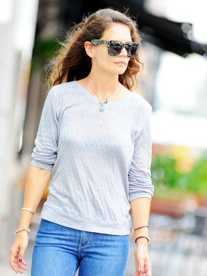 Katie Holmes Mixes Athletic and Evening Wear