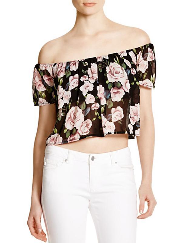 Lucy Paris Floral Off the Shoulder Top