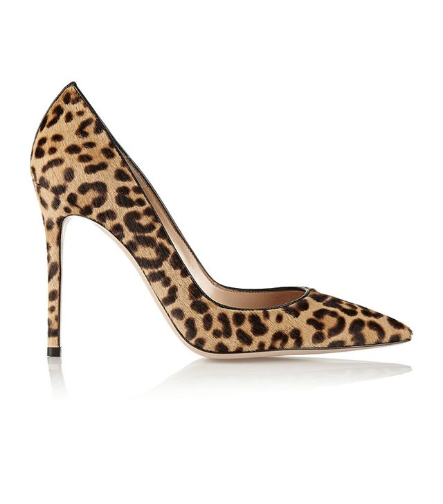 Gianvitto Rossi 100 Leopard-Print Calf-Hair Pumps