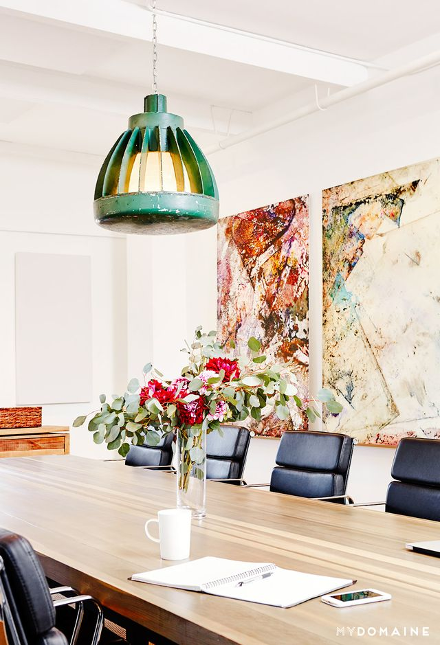 """With 25 employees located in Los Angeles and New York, a large and accommodating conference room in the West Coast officewas important for cross-country calls and collaboration. """"As..."""