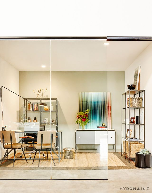 """""""We wanted the vibe for our office to be eclectic in style, andgiven our relocation to the Arts District, a key aspect to our design was to be able to showcase the works of local..."""
