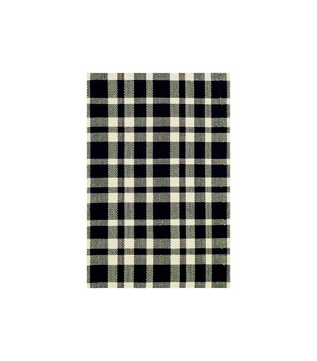 Dash & Albert Woven Tattersall Black Area Rug