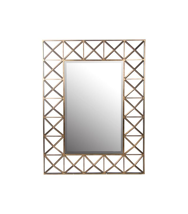Privilege International Beveled Glass Rectangle Wall Mirror
