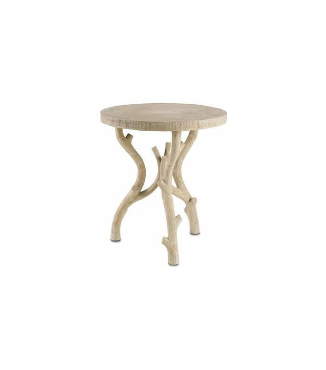 Mecox Round Faux Bois Concrete Side Table