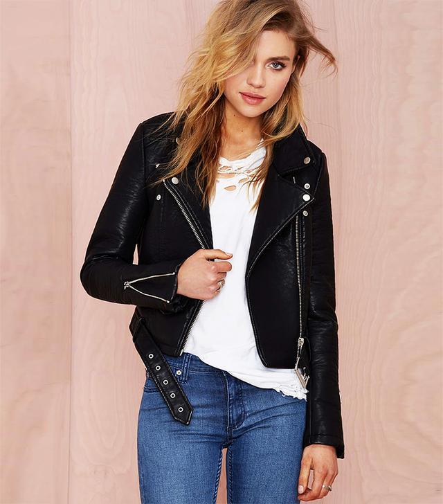 Nasty Gal Atomic Vegan Leather Jacket