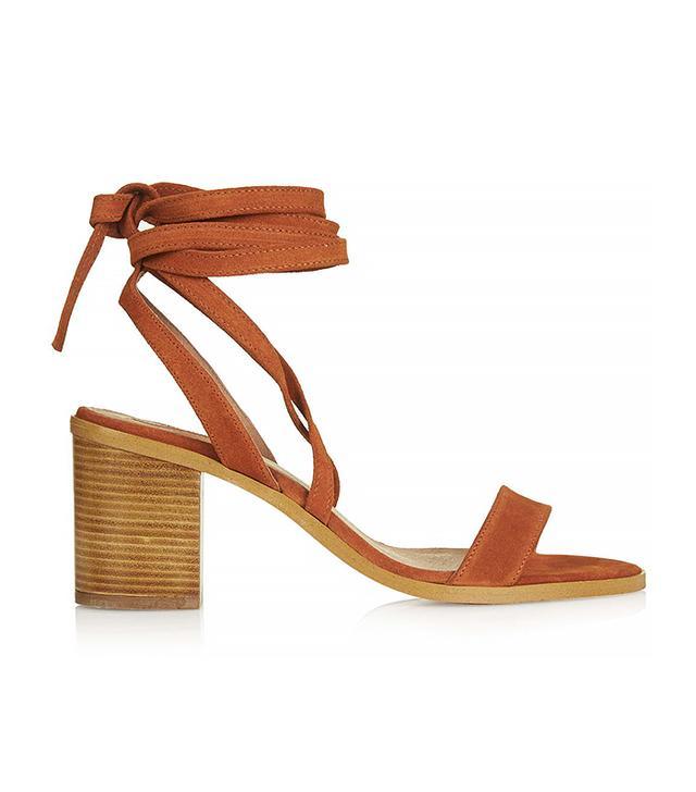 Topshop Nomad Tie Suede Sandals