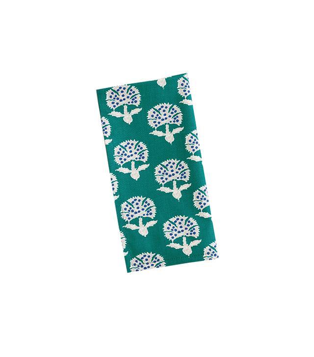 World Market Teal Floral Remy Napkins