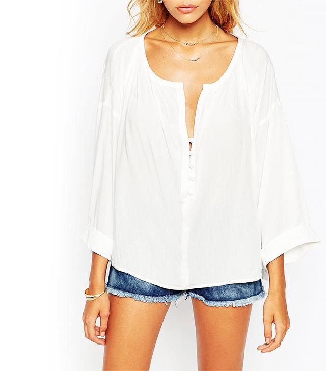 ASOS Casual Oversized Blouse, White