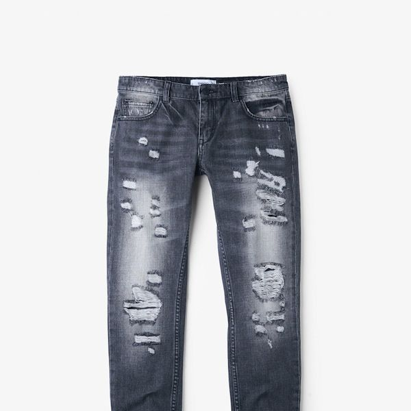 Mango Cropped Relaxed Jeans