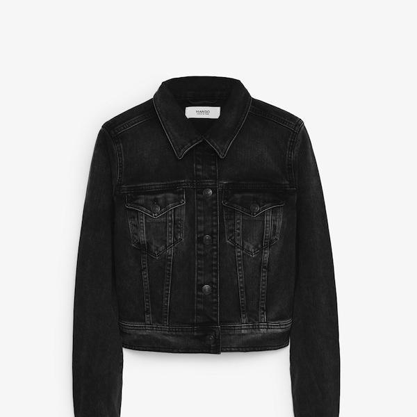 Mango Dark Wash Denim Jacket