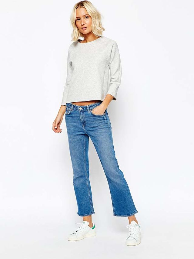 Weekday Cut Cropped Flare Jeans