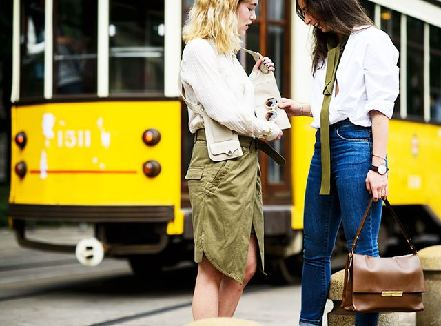 Take note of outfits you see that you like, and break down the components of the look into a formula—for example, blazer + V-neck tee + cutoff shorts + block-heel sandals. Then re-create the...