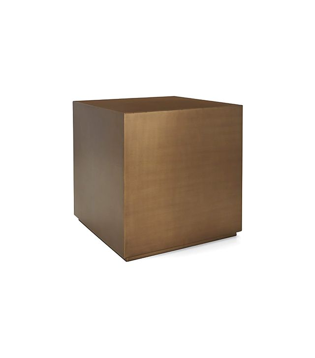 Crate and Barrel Patina Brass Cube