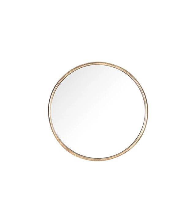 Kathy Kuo Home Libby Thin Frame Round Mirror
