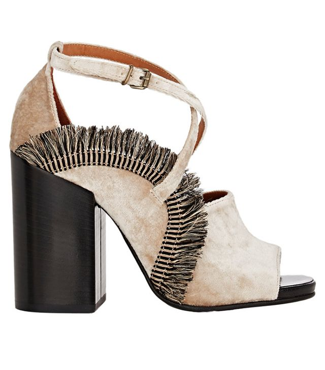 Dries Van Noten Fringed Crisscrossed-Strap Sandals