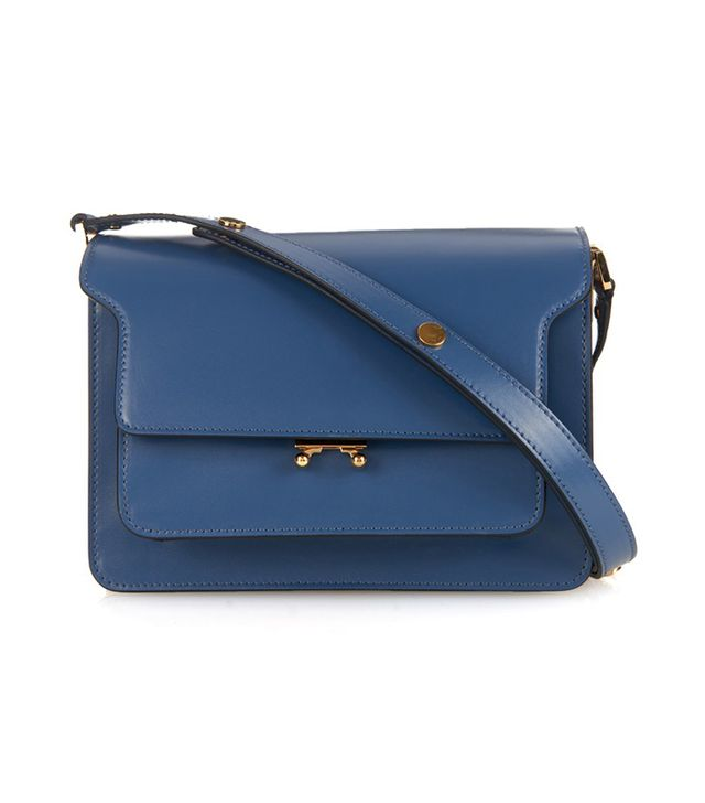 Marni Trunk Medium Bi-Colour Leather Satchel