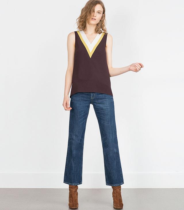 Zara Three-Tone Top