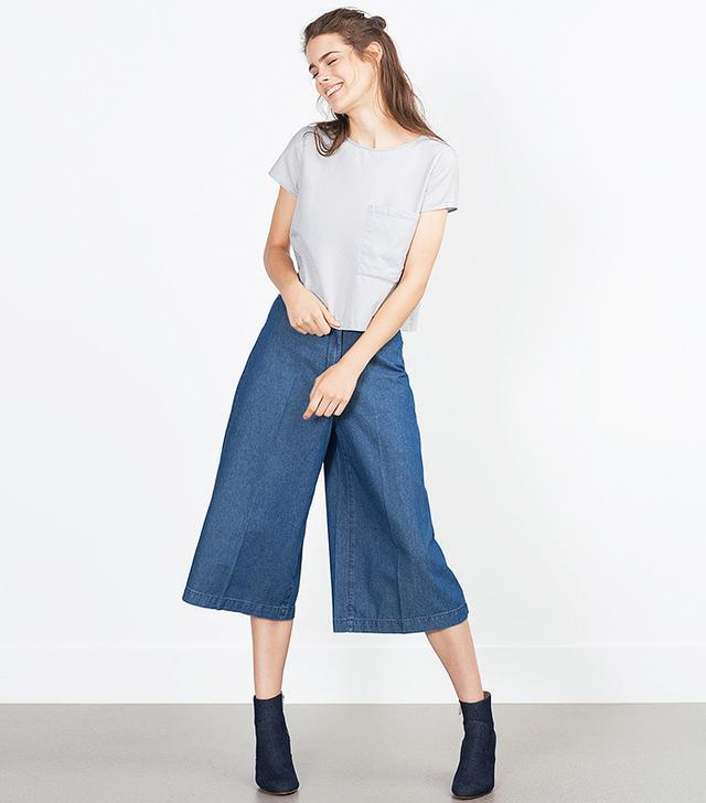 Zara Denim Culottes