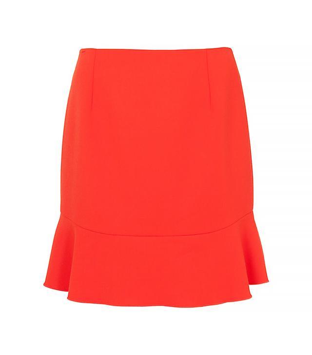 French Connection Whisper Fluted Hem Skirt