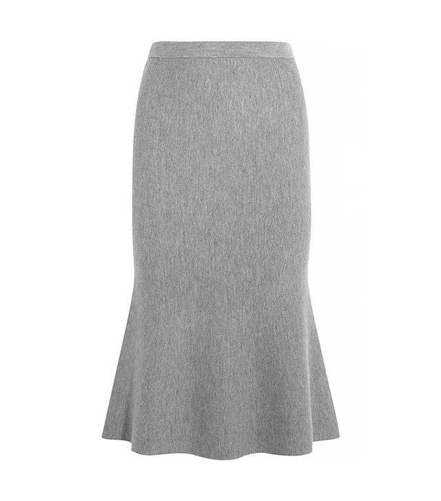Iris and Ink Rosalie Milano Fluted Wool Skirt