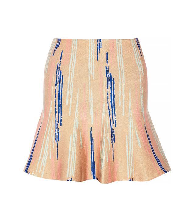 Issa Printed Stretch-Jacquard Mini Skirt