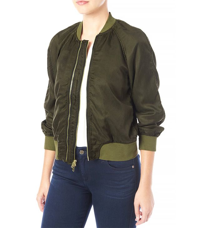 7 for All Mankind Crop Bomber Jacket