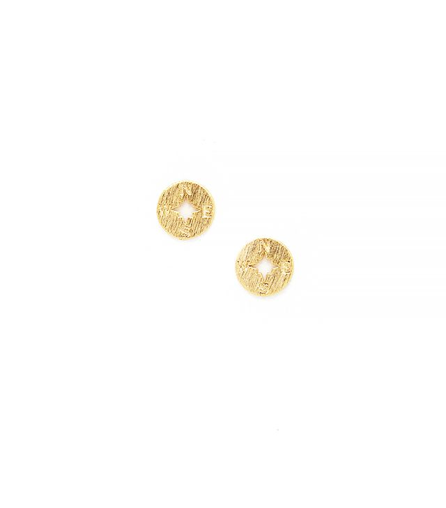 Modern Citizen Going Places Matte Earrings in Gold