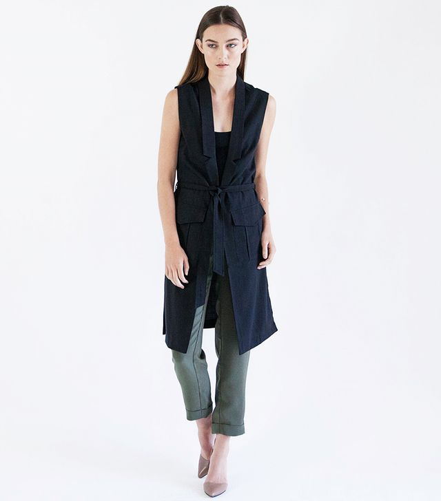 Modern Citizen Alana Textured Trench Vest