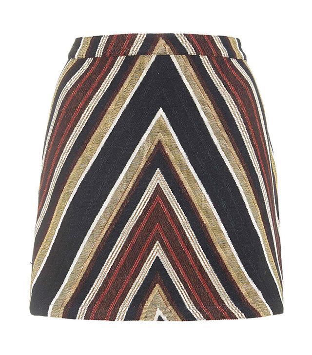 Topshop '70s Chevron Mini Skirt