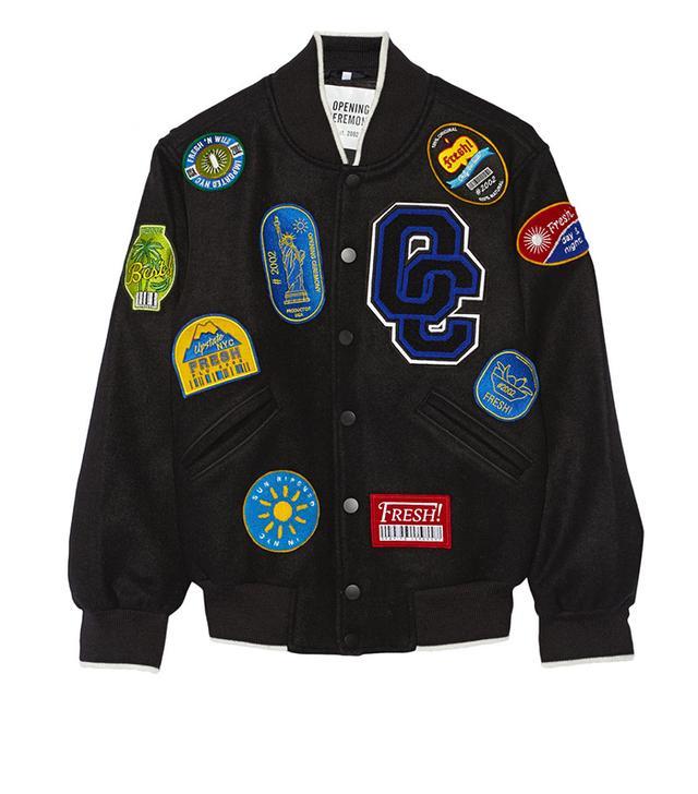 Opening Ceremony Appliqued Wool-Blend Felt Varsity Jacket