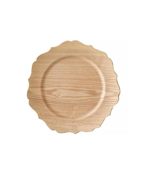 Terrain Decorative Woodgrain Charger