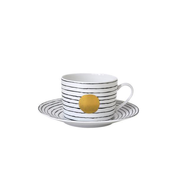 Bernardaud Black and White Teacup