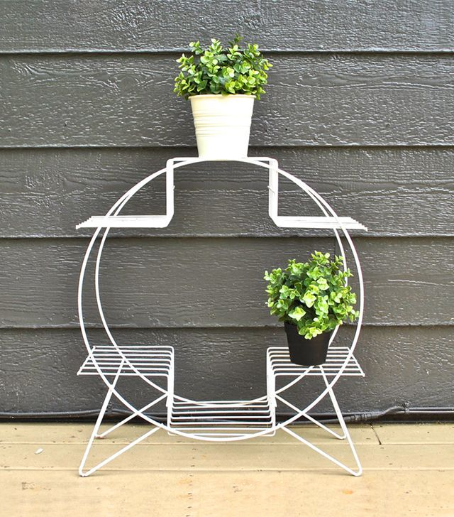 Charlie's Nest White Midcentury Plant Stand