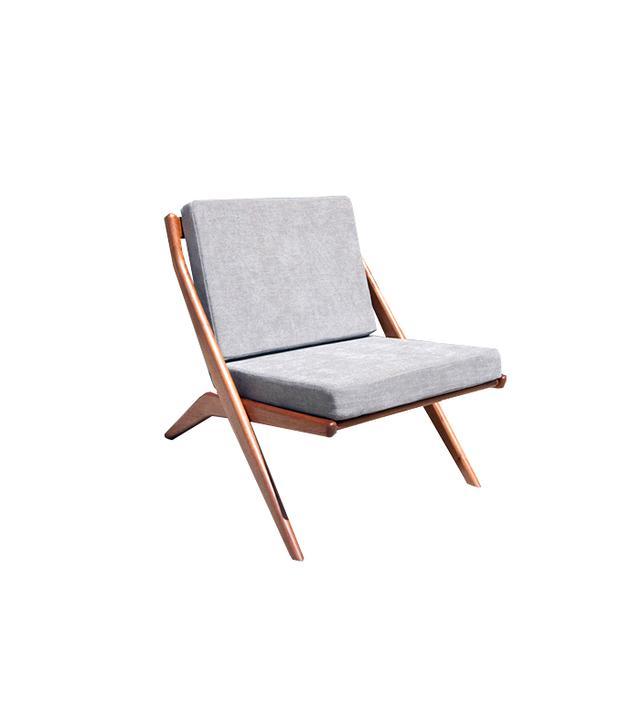 Midcentury Maddist Dux Scissor Chair by Folke Ohlsson