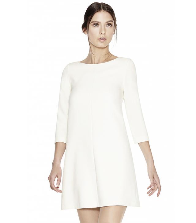 Alice + Olivia Clarence Boatneck A-Line Dress