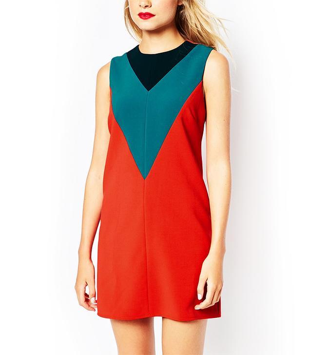 ASOS Colorblock Shift Dress