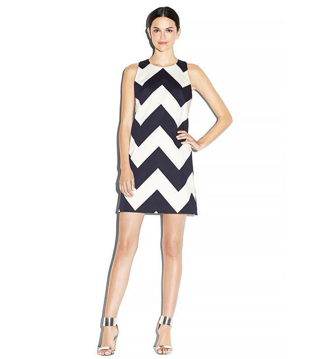 Milly Chevron Print A-Line Shift Dress
