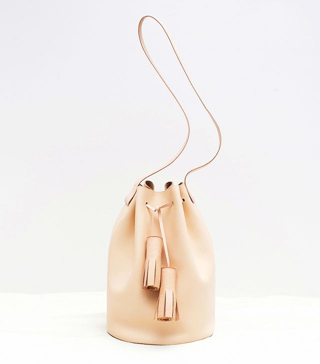 Building Block Bucket Bag, Nude