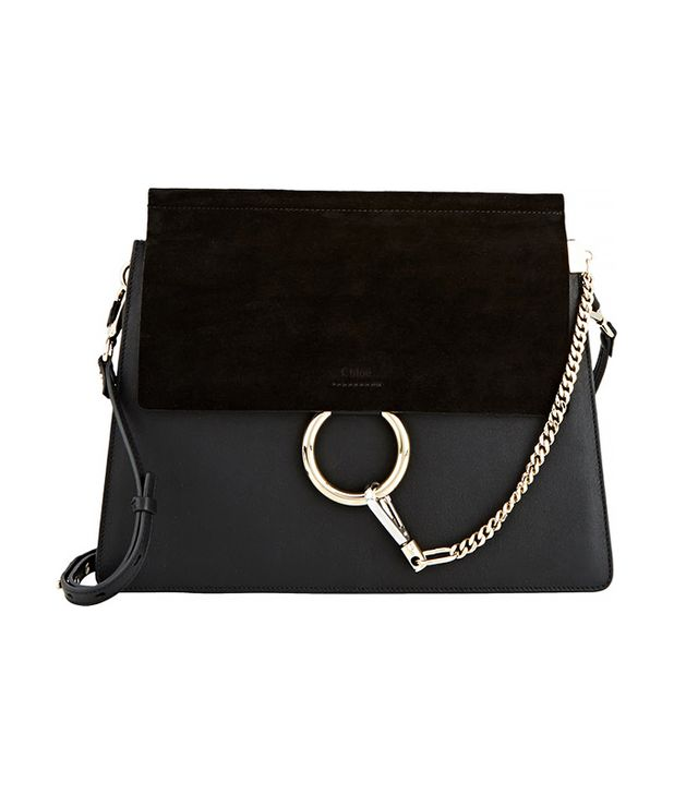 Chloé Faye Medium Shoulder Bag, Black