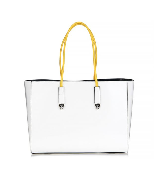 Toga Cowboy Leather Tote, White