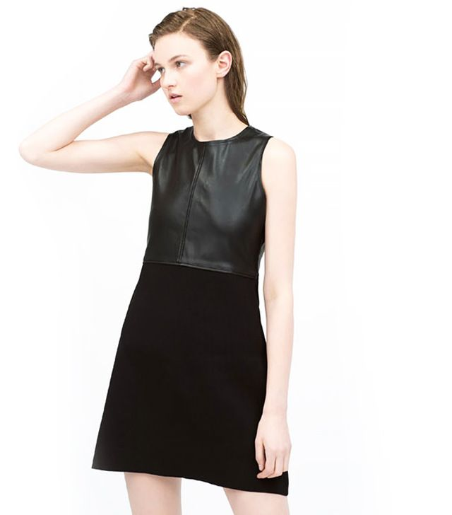 Zara Faux Leather Combination Dress
